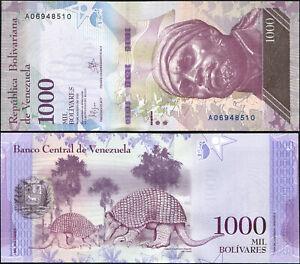 Venezuela 1000 Bolivares. UNZ 18.08.2016 (2017) Banknote Kat# P.NL