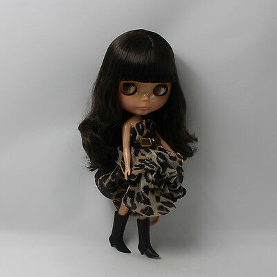 """12/"""" Neo Nude  Dark Blue hair Blythe doll From Factory  JSW52008"""