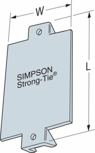 """Simpson Strong-Tie NS1 1-1//2/"""" x 3/"""" Nail Stop Plate Pack of 10"""
