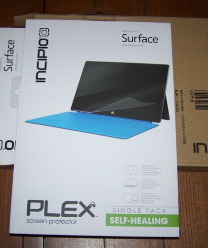 2 Pack Incipio PLEX Self-Healing Screen Protector for Microsoft Surface, Pro, RT