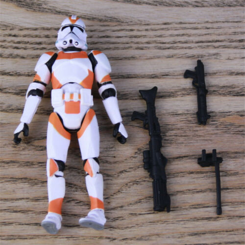 "3.75/"" Star Wars  battle of utapau orange white  Clone Trooper Action Figure"