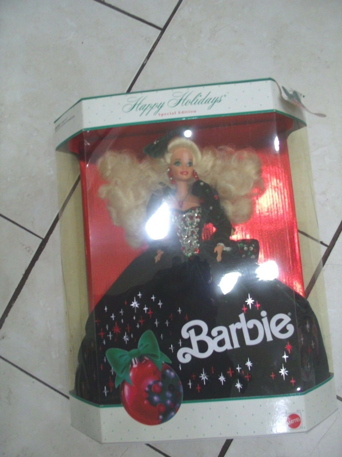 1991 Happy Holidays Barbie Special Edition W Ticket  RARE