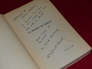 FRANCOIS-NOURISSIER-LE-MAITRE-DE-MAISON-EO-ENVOI-SIGNE-Grasset-1968-Stoleru