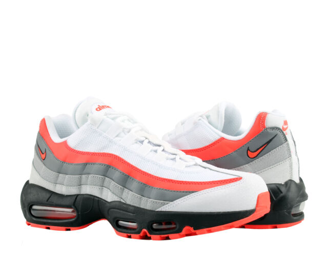 9f227c1d54 Nike Air Max 95 Essential White/Bright Crimson Men's Running Shoes  749766-112
