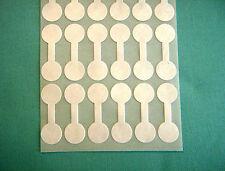 "100 Round White New 1/2""  Adhesive Ring Jewelry ID/Price Tags"