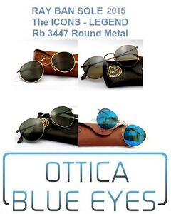 a1f21af540c8 Occhiali da Sole RAYBAN ROUND METAL RB 3447 Ray Ban ALL COLORS ...