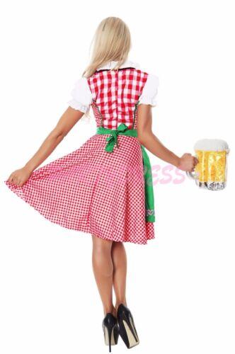 OP 8001g Ladies Costume Fancy Dress Oktoberfest German Heidi Beer Maid Sz 6-16
