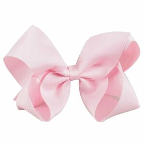 5inch Bright Pink Colour Boutique Bows Girls/' Hair Clip