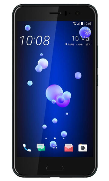 htc u 11 64gb brilliant black vodafone smartphone. Black Bedroom Furniture Sets. Home Design Ideas