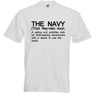 72d6524f THE NAVY Funny Men's sailor armed forces services T-Shirt Definition ...