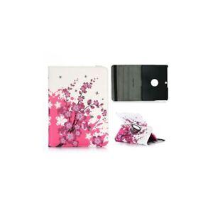 Etui-pour-Samsung-Galaxy-Tab-4-10-1-rotatif-360-Fleurs-Japonaise