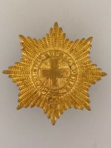 Britain-British-Army-Coldstream-Guards-Brass-Metal-Cap-Badge