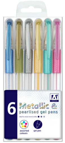 Colour Gel Pens Set Glitter Scented Metallic Ink Ballpoint Craft