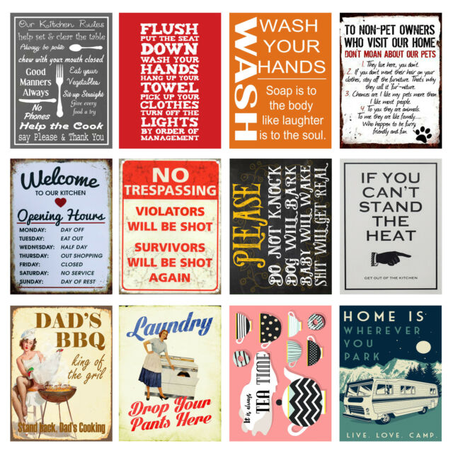 Retro Metal Signs//Plaques Funny Cool Novelty Gift Quotes 14
