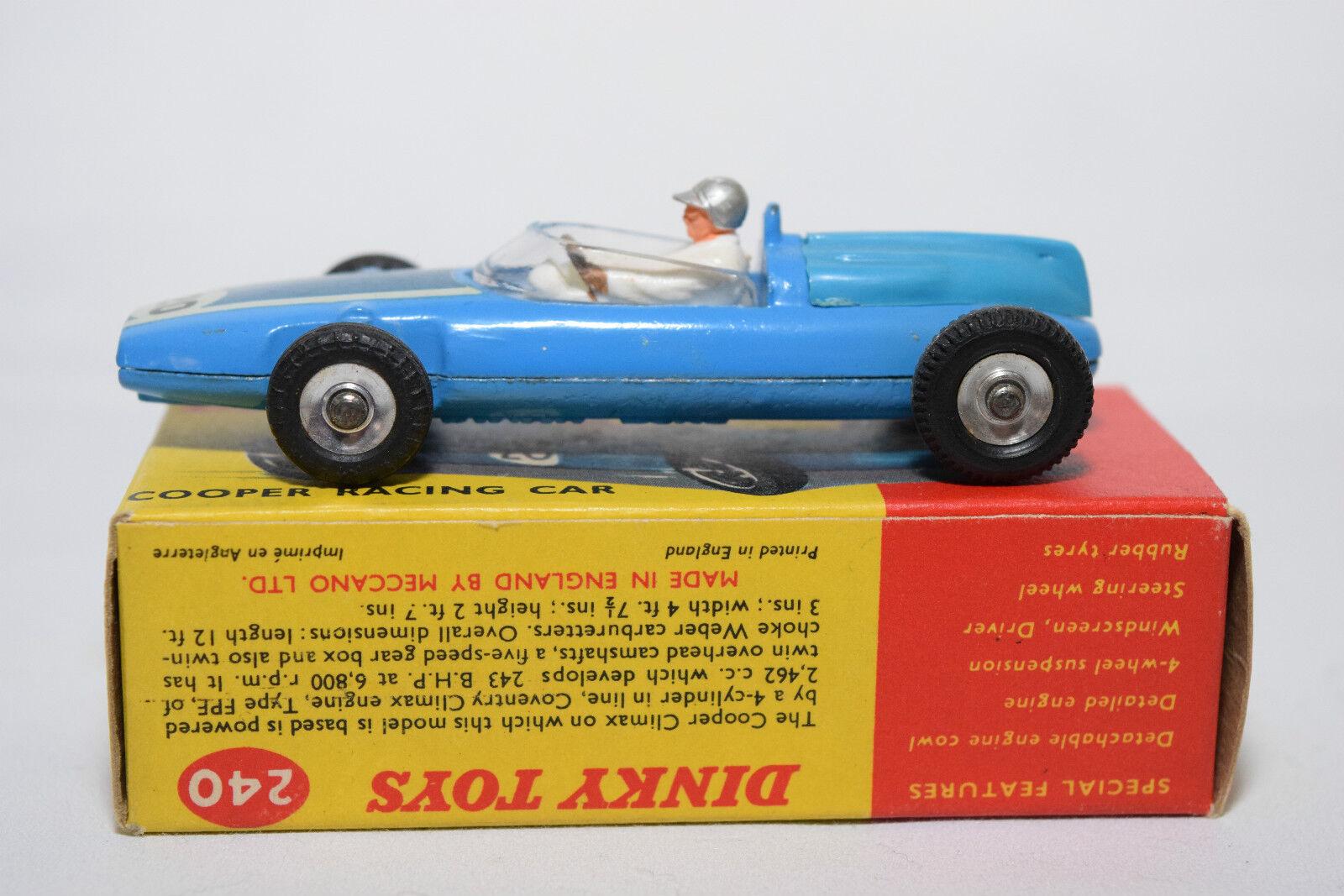 P DINKY TOYS 240 240 240 COOPER RACING CAR GREY HELMET MINT BOXED RARE SELTEN RARO a8668a