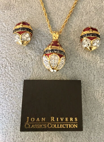 Joan Rivers Faberge Gold Tone Birthday Egg Pendant