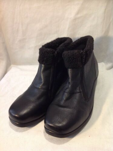 Orthopedic Ankle Leather Black Boots 8 Size qwHqgr
