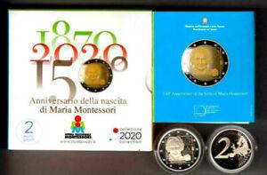 ITALIA-2-euro-FS-PROOF-150-ann-Nascita-di-MARIA-MONTESSORI-2020-in-cofanetto