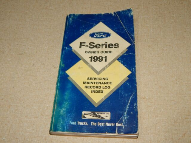 91 Ford F150 Owners Guide Manual