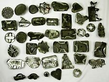Antique Set of Tin Cookie Cutters 39 pieces