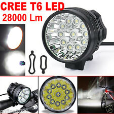 28000Lm 11x Headlamp XML T6 LED 3 Modes Bicycle Bike Headlight Head Light Lamp