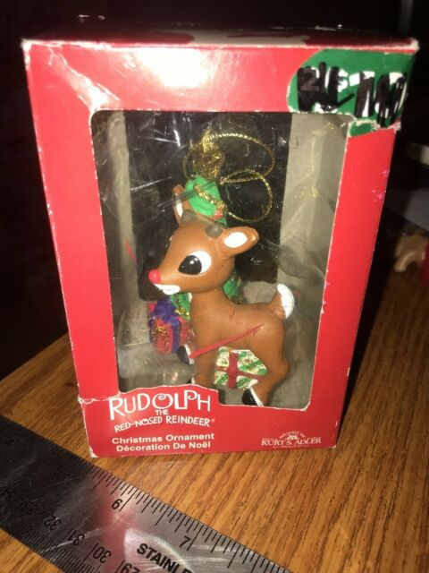 Vintage Kurt Adler Rudolph The Red Nosed Reindeer Christmas Rudolph Ornament