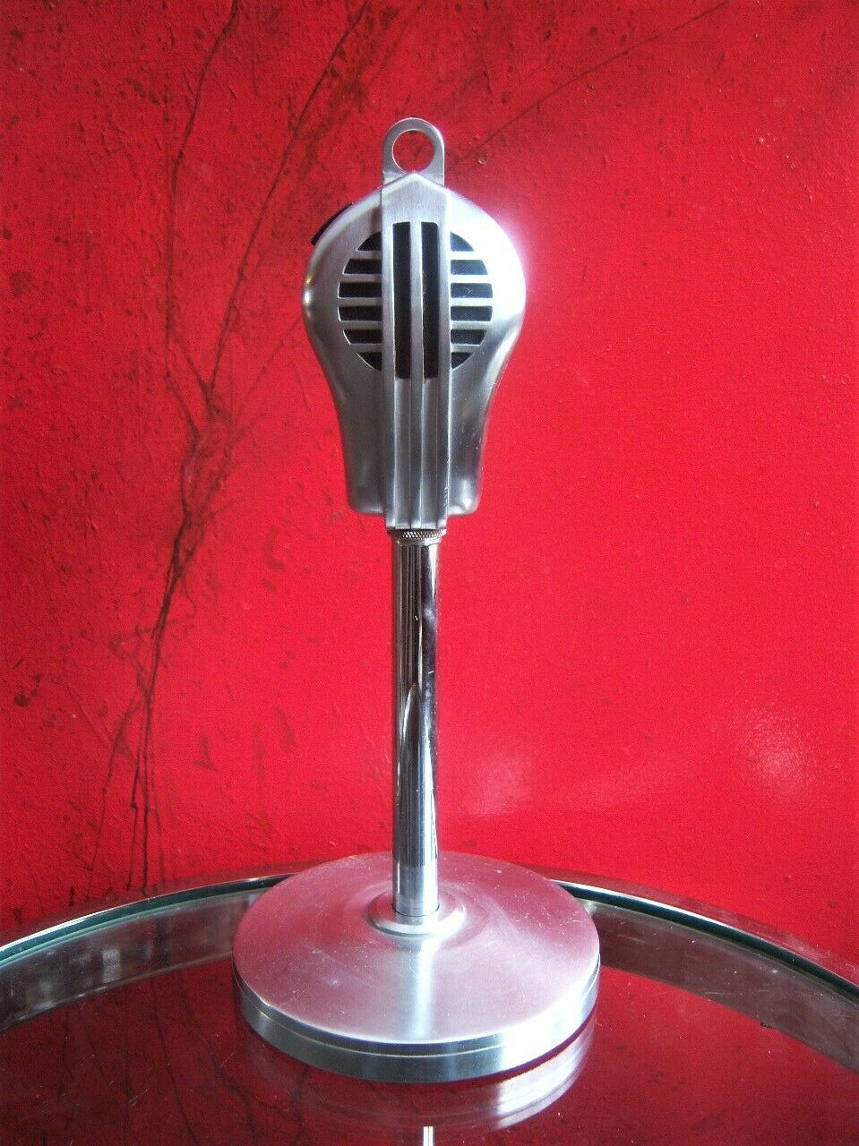 Vintage 1950's Stromberg Carlson 28AS   Turner 9D dynamic microphone w stand