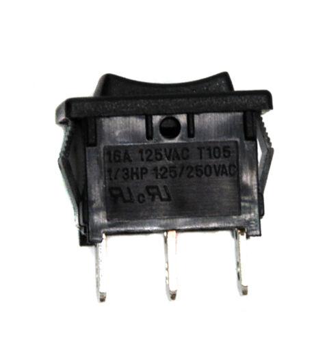 5x On-Off-On Rocker Switch 3P 16A 125V RLEIL RL3-1 RL3-1-13-H-6-BK//BK-P5 21x15mm