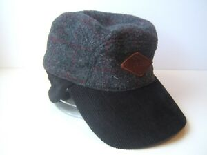 LL Bean Patch Maine Highland Hat Gray S M Men s Ear Neck Flap ... c85b624f116