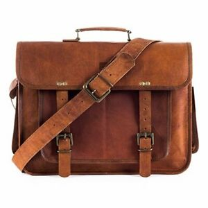 Genuine-Leather-women-Vintage-Handbag-Business-Shoulder-Bag-Briefcase-Messenger