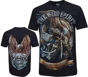 XXL New Eagle Biker Native American Indian Motorbike Motorcycle T Shirt M