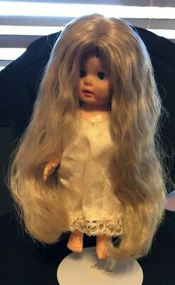 New VICTORIA Doll Wig Size 9-10 Color Lt Brown in Modacrylic by Global Dolls