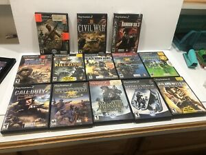 PS2-Playstation-13-Shooter-War-Games-Call-Of-Duty-Socom-Medal-Of-Honor