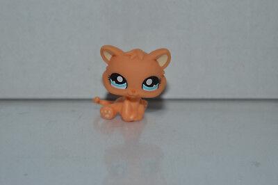 Littlest Pet Shop~#1371~Kitty Cat Kitten~Orange Yellow~Blue Dot Eyes