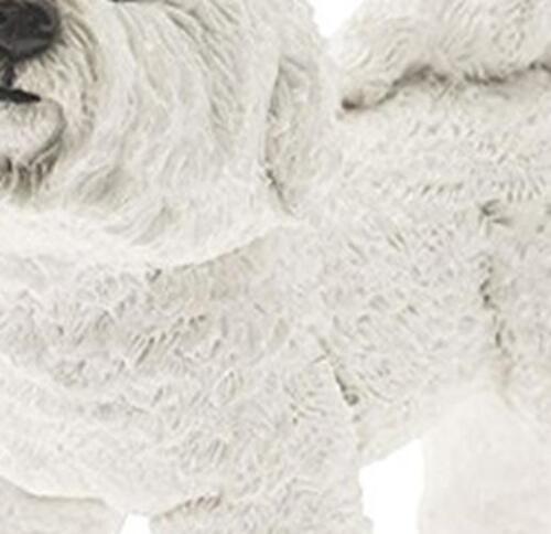 Stone Dog Ornaments White Bichon Frise Art Home Garden Outdoor Indoor Decor New