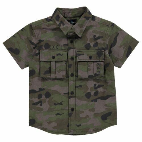 Kids Boys Firetrap Cargo Shirt Infants Short Sleeve Casual New