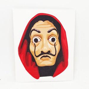 la casa de papel salvador dali mask sticker decal decor money heist art print ebay