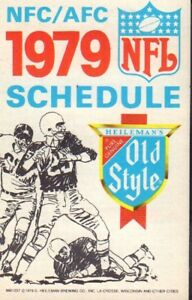 1979 Old Style NFL Football Schedule jh62