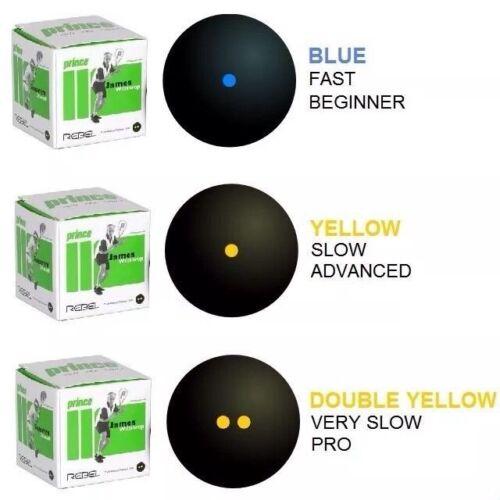 PRINCE Rebel Squash Balls-simples et doubles point jaune