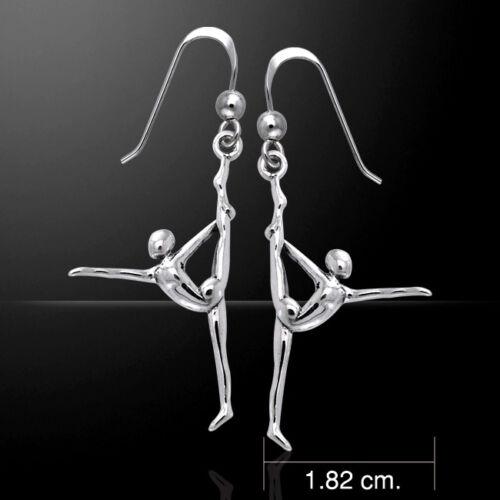 Yoga .925 Argent sterling Boucles d/'oreilles par Peter Stone