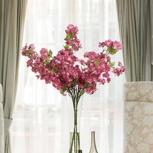 Image Is Loading Artificial Lilac Cherry Blossom Flower Bouquet For Wedding