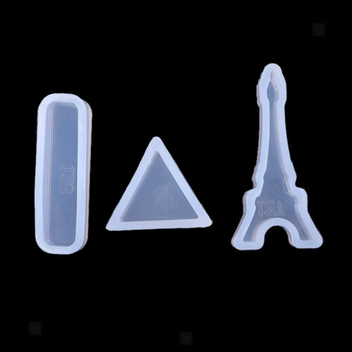 3x Silicone Pendant Mould Jewelry Making Tools Mold for Resin Casting