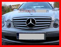 Mercedes W211 Grill E320 E500 E55 Grille Cl E350 Amg Silver 20032006