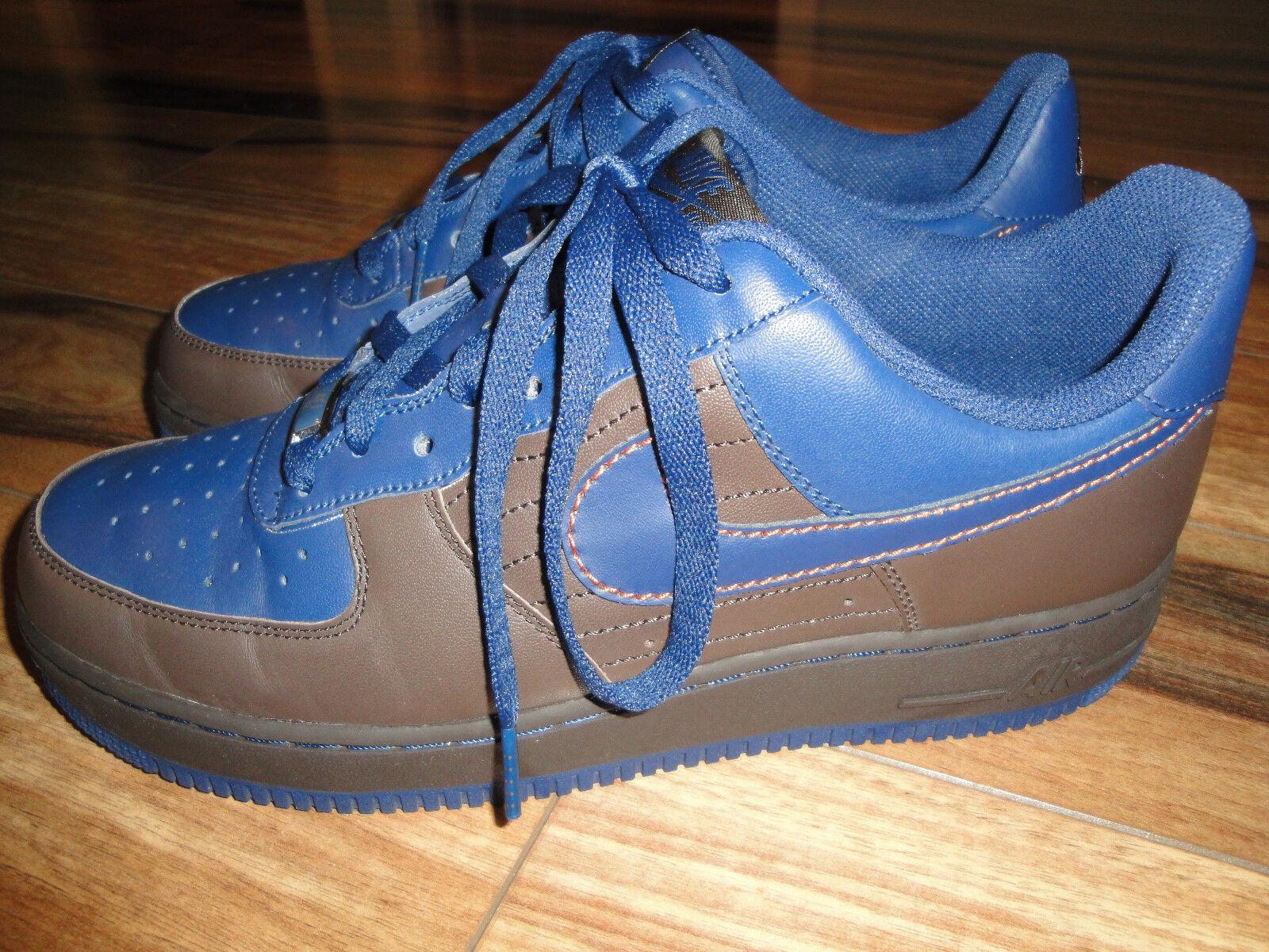 Nike air force 1 chocolate bassa dimensione 10 stile chocolate 1 brown & blu 396ce5