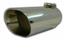 """Muffler Tip Exhaust Tail Pipe Chrome Oval Round ID: 3"""" OD: 3.33 4.5"""" Length: 9"""""""