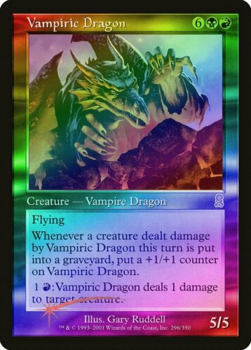 Vampiric Dragon FOIL Odyssey HEAVILY PLD Black Red Rare MAGIC MTG CARD ABUGames