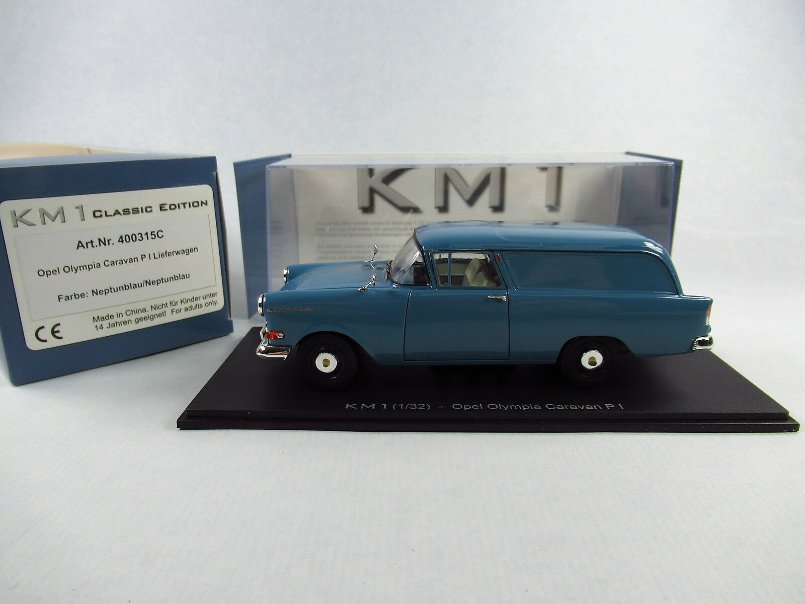 Km1-Opel oylmpia Caravane p1-neptunbleu Camionnette - 1 32 - Artnr. 400315 C