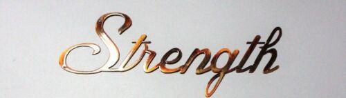Strength Metal Wall Art Word Accent