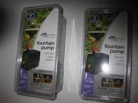 Lot Of 2 Pennington Aquagarden 75-150 Gph Tabletop & Small Fountain Pumps,