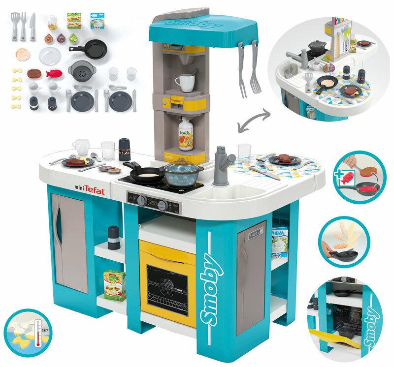 Smoby Mini Tefal Elektronische Studio XL Bubble Küche (Türkis)